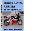Thumbnail Aprilia RS 125 1993-2002 Service Repair Manual
