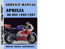 Thumbnail Aprilia RS 250 1995-1997 Service Repair Manual