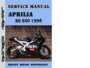Thumbnail Aprilia RS 250 1998 Service Repair Manual