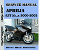 Thumbnail Aprilia RST Mille 2000-2003 Service Repair Manual