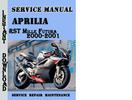 Thumbnail Aprilia RST Mille Futura 2000-2001 Service Repair Manual