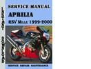 Thumbnail Aprilia RSV Mille 1999-2000 Service Repair Manual