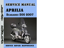Thumbnail Aprilia Scarabeo 500 2007 Service Repair Manual
