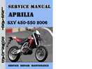 Thumbnail Aprilia SXV 450-550 2006 Service Repair Manual