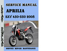 Thumbnail Aprilia SXV 450-550 2008 Service Repair Manual