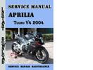 Thumbnail Aprilia Tuono V4 2004 Service Repair Manual