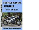 Thumbnail Aprilia Tuono V4 2011 Service Repair Manual