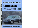 Thumbnail Chrysler Voyager 1996-1999 Service Repair Manual