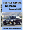 Thumbnail Daewoo Leganza 2000 Service Repair Manual