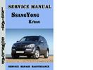 SsangYong Kyron Service Manual