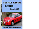 Thumbnail Dodge Neon 2000 Service Repair Manual