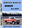 Thumbnail Dodge Ram 2001 Service Repair Manual