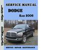 Dodge Ram 2006 Service Repair Manual