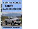 Dodge Ram 2500-3500 2003 Service Repair Manual